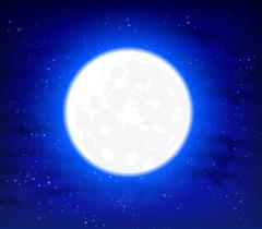 Full moon on a starry background space sky Stock Illustration