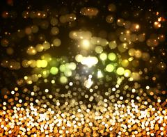 Background of the golden glitter and glare Stock Illustration
