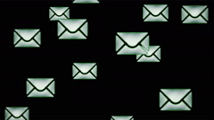 E-mail icons. Looping. Stock Footage