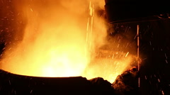 Iron production in Russia Stock Footage