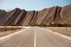 Amazing scenery in Musandam peninsula, Oman - stock photo