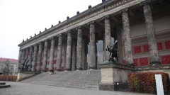 Altes Museum on the museum island in berlin Stock Footage