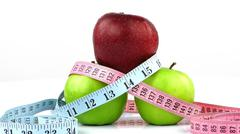 Apple and Measurement Fit Life Concept - stock photo