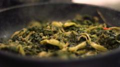 Stir Fry Vegetables Stock Footage