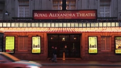 Royal Alexandra theatre entrance in Toronto, Canada Stock Footage