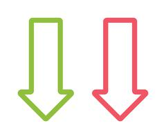 Arrow two colored sign next direction vector illustration icon isolated - stock illustration