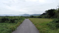 Island view drive from the high points of Ishigaki Island. Stock Footage