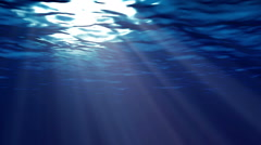 Blue ocean surface seen from underwater Stock Footage
