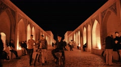 Khaju Bridge Isfahan Stock Footage