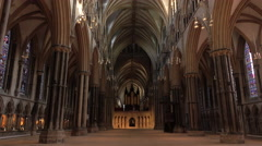 Lincoln England Cathedral beautiful inside landmark 4K Stock Footage