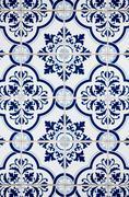 Portuguese glazed ceramic tiles Stock Photos