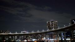 Traffic over the loop across Rainbow Bridge. - stock footage