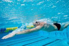 Olympic Hopeful in Training - stock photo
