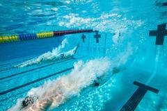 Olympic Hopefuls in Training - stock photo