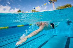 Stock Photo of Olympic Hopeful in Training
