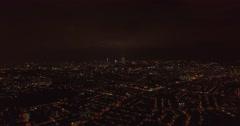 Aerial night shot, wide view of Kuala Lumpur city, Malaysia Stock Footage