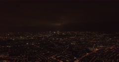 Aerial night shot, wide view of Kuala Lumpur city Arkistovideo
