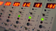 The control panel to display the temperature and other parameters of equipment - stock footage