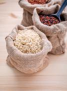 Mixed whole grain traditional thai rices best rices for healthy and super foo Stock Photos