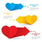 heart shape info-graphics design - stock illustration
