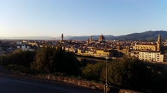Florence, Italy view from Piazzale Michelangelo. Stock Footage