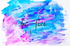 Inspirational abstract water color background - stock photo
