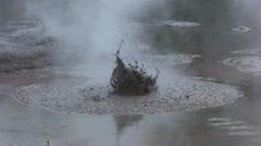 boiling mud pool close up at rotorua nz - stock footage