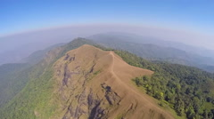 Aerial - Doi Mon Jong at Northern of Thailand. Stock Footage