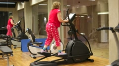 The gym in the hotel Stock Footage