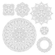 Abstract Flower Mandala. Decorative ethnic element for design Stock Illustration