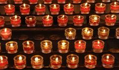 Candles in the church Stock Photos