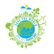 Eco Friendly, green energy concept, vector illustration. Earth day - stock illustration