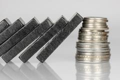Black Domino bricks Stock Photos