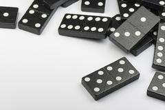 Black Domino bricks Stock Photos