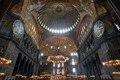 Dome of Aya Sofya, Istanbul, Turkey - stock photo
