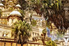 Cathedral of Palermo in Sicily, Italy - Abstract photo Stock Illustration