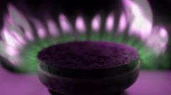 Consecutive ignition of the gas from the burner gas kitchen stove. Macro Stock Footage