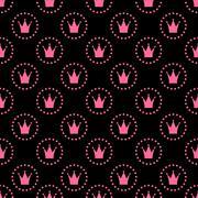 Stock Illustration of Princess Seamless Pattern Background Vector Illustration