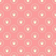 Princess Seamless Pattern Background Vector Illustration - stock illustration