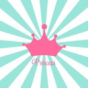 Stock Illustration of Princess Background with Crown Vector Illustration