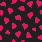 Happy Valentines Day Seamless Pattern Background with Heart. Vec - stock illustration