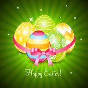 Beautiful Easter Egg Background Vector Illustration - stock illustration