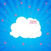 Little Princess Background Vector Illustration - stock illustration