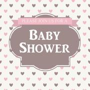 Baby Shower Invitation Vector Illustration Stock Illustration