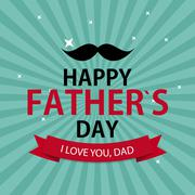 Happy Father`s Day Poster Card Background Vector Illustration - stock illustration