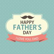 Stock Illustration of Happy Father`s Day Poster Card Background Vector Illustration