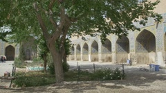 Shah Mosque Soleimanieh school yard - stock footage