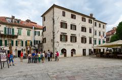 Archives building on St. Tryphon Square, Old Town, Kotor, Montenegro Stock Photos
