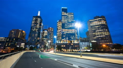 Motion timelapse of downtown Melbourne, Australia Stock Footage