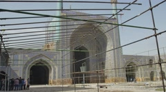 Shah Mosque renovation Stock Footage